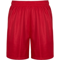 Red Mini Mesh Athletic Shorts with School Logo