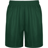 Green Mini Mesh Athletic Shorts with School logo