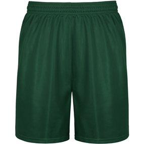Dark Green Mini Mesh Athletic Shorts