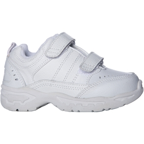 White Casual Velcro Shoe Adjustable Width