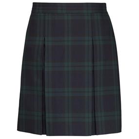 Blackwatch Plaid Box Pleated Skirt