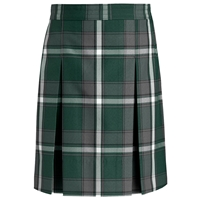 Citation Plaid Box Pleated Skirt