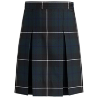 Columbia Plaid Box Pleated Skirt