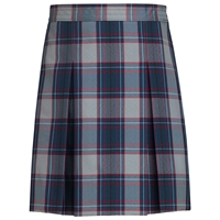 Dunbar Plaid Box Pleated Skirt