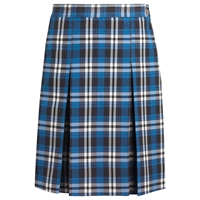 Rampart Plaid Box Pleated Skirt