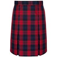 Woodland Plaid Box Pleated Skirt