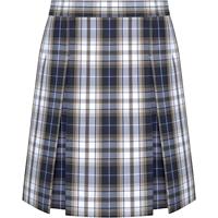 Alexander Plaid Box Pleated Skirt