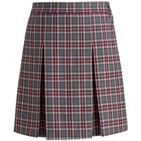 MM Plaid Box Pleated Skirt