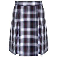 Patricia Plaid Box Pleated Skirt