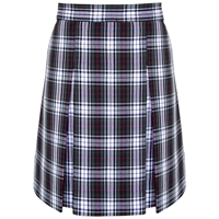 Patricia Plaid Box Pleated Skirt
