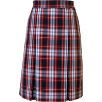 Liberty Plaid Stitched Down Kick Pleat Skirt with Side Zipper
