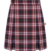Ridgeland Plaid Stitched Down Kick Pleat Skirt with Side Zipper