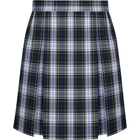 Belmont Plaid Box Pleated Skirt