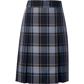Tyler Plaid Box Pleated Skirt