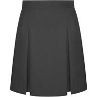 Dark Grey Box Pleated Skirt