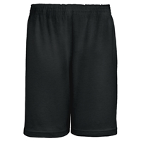 Black Jersey Knit Athletic Short