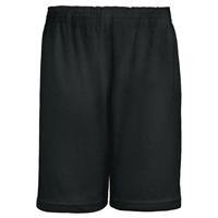 Black Jersey Knit Athletic Short