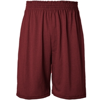 Maroon Jersey Knit Athletic Short