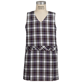 Marymount Plaid Box Pleated Shift