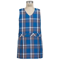 Grant Plaid Box Pleated Shift with School Logo