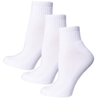 White 3 Pack Crew Socks with School Logo