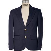 Navy Mens Long Blazer with School Logo