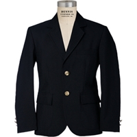 Navy Boys Gabardine Blazer with School Logo