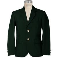 Hunter Green Mens Long Gabardine Blazer with School Logo