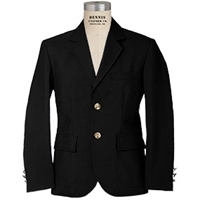 Black Mens Blazer  with School Logo