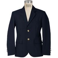 Navy Gabardine Mens Extra Long Blazer with School logo