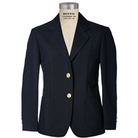 Navy Gabardine Girls Blazer