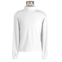 White Mock Turtleneck with School Logo