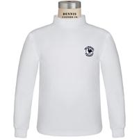 White Mock Turtleneck with Primrose logo