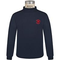 Navy Mock Turtleneck with Primrose logo