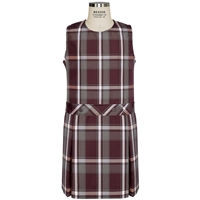 Bordeaux Plaid Box Pleated Shift