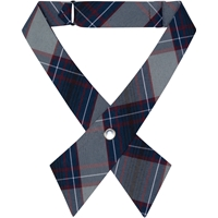 Dunbar Plaid Pearl Snap Crossover Tie