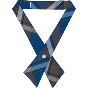 Grant Plaid Pearl Snap Crossover Tie