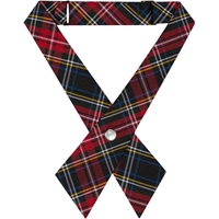 Macbeth Plaid Pearl Snap Crossover Tie