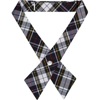 Marymount Plaid Pearl Snap Crossover Tie