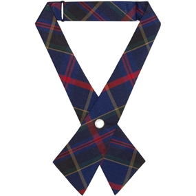 Wilson Plaid Pearl Snap Crossover Tie