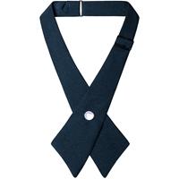 Navy Pearl Snap Crossover Tie