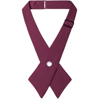 Wine Pearl Snap Crossover Tie