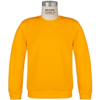 Gold Crewneck Sweatshirt with School Logo