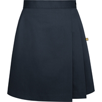 Navy Side Pleat Skort with School logo