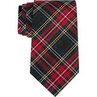 Macbeth Plaid Clip-On Neck Tie