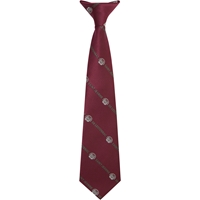 Wine Clip-On Neck Tie with school logo
