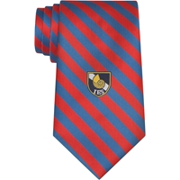 Boca Prep Stripe Clip-On Neck Tie with School Logo