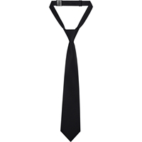 Black Adjustable Neck Tie