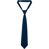 Navy Satin Adjustable Neck Tie