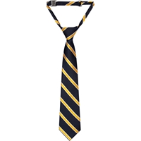 Navy with Gold & White Stripe Adjustable Neck Tie
